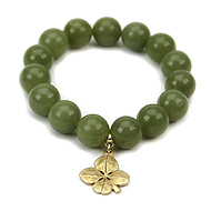 onyx large goddess bracelet with gothic cross : Dogeared Jewels and Gifts :  jade luck gold dipped four leaf clover