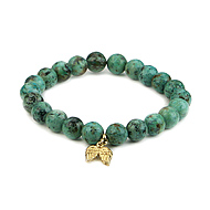 turquoise small goddess bracelet with angel wings