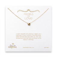 bridal pearls of love gold pearl necklace, gold dipped - 18 inches