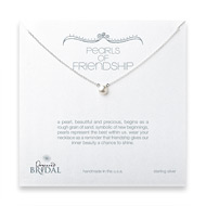 bridal pearls of friendship white pearl necklace, sterling silver
