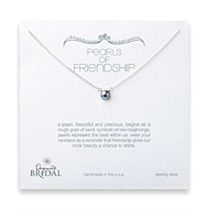 bridal pearls of friendship silver pearl necklace, sterling silver