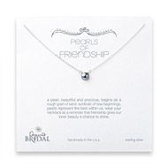 bridal pearls of friendship silver pearl necklace, sterling silver - 18 inches