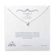 bridal pearls of love white pearl necklace, sterling silver -18 inches