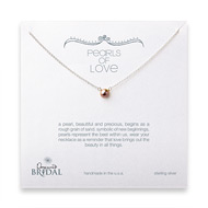 bridal pearls of love rose pearl necklace, sterling silver - 18 inches