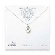bridal keshi pearl necklace, sterling silver - 18 inches