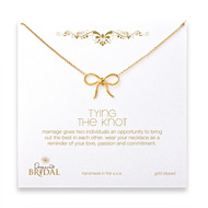 bridal tyring the knot necklace, gold dipped - 18 inches