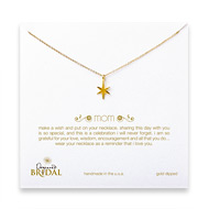 bridal mom bright star necklace, gold dipped