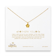 bridal thank you hibiscus necklace, gold dipped