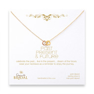 bridal gold dipped past, present, future necklace