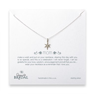 bridal mom bright star necklace, sterling silver