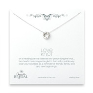 bridal love knot necklace, sterling silver