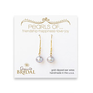 bridal pearls of... gold dipped earrings with silver pearl