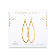 bridal earrings, always beautiful petal, gold dipped