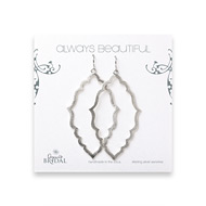 bridal earrings, always beautiful moroccan, sterling silver