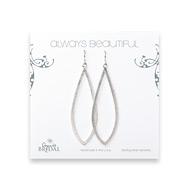 bridal earrings, always beautiful petal, sterling silver