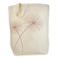 rose gold dandelion organic tote bag