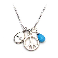 the imagine peace necklace