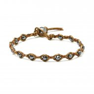 gifts to go collection braided bronze leather and hematine gem bracelet