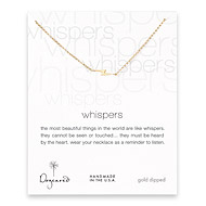 whispers lightning bolt necklace, gold dipped