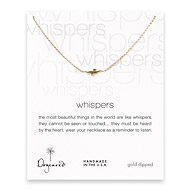whispers seagull gold dipped necklace