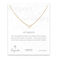 whispers bow necklace, gold dipped