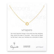 whispers jewish star necklace, gold dipped