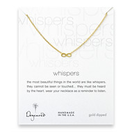whispers infinity necklace, gold dipped