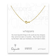 whispers simple key necklace, gold dipped