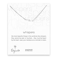 whispers lightning bolt necklace, sterling silver