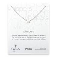 whispers elephant necklace, sterling silver