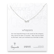 whispers infinity necklace, sterling silver