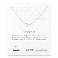 whispers simple key necklace, sterling silver