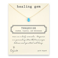 healing gem turquoise necklace, gold dipped