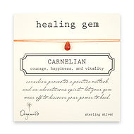carnelian healing gem necklace on thread
