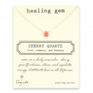 healing gem cherry quartz necklace, sterling silver