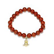 red jasper small goddess bracelet with large owl