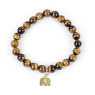 tigers eye small goddess bracelet with elephant