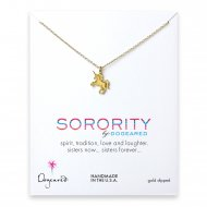 unicorn sorority necklace, gold dipped