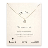 diamond sorority necklace, sterling silver