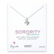 unicorn sorority necklace, sterling silver