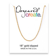 create faceted ball chain, gold dipped - 18 inches