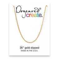 create faceted ball chain, gold dipped - 36 inches