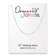 create chain, sterling silver - 24 inches
