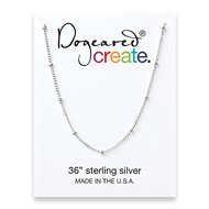 create beaded chain, sterling silver - 36 inches