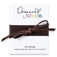 create leather necklace, chocolate - 44 inches