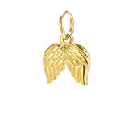angel wings charm, gold dipped