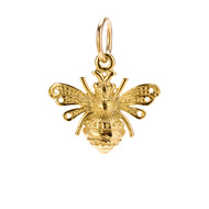 bee charm, gold dipped