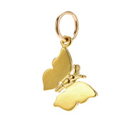 monarch butterfly charm, gold dipped