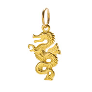 dragon charm, gold dipped