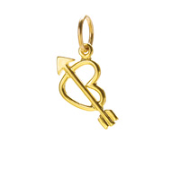 love struck heart charm, gold dipped